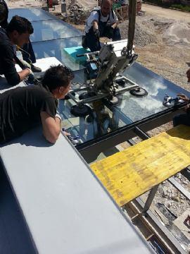 Primjer - tijek montaže stakla